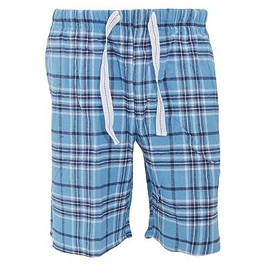 db2bfbf978 Cargo Bay Herren Flanell Pyjama Shorts kariert (S (Bund 76-81cm ...