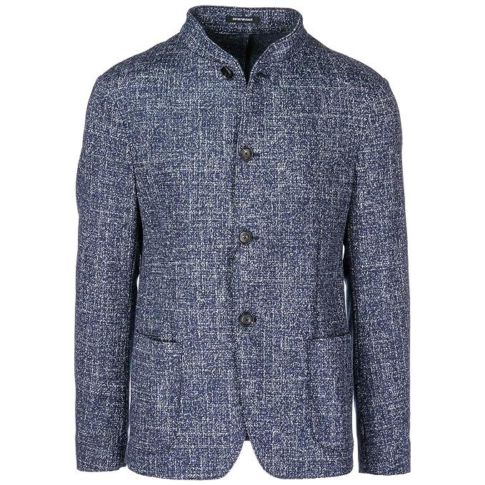 Emporio Armani cazadoras hombres americana chaqueta nuevo blu EU 50 (UK 40) 11G90S11S27: Amazon.es: Ropa y accesorios