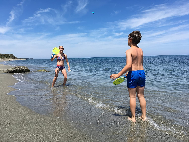 Multi-Colour Schildkroet-Funsports Unisexs Neoprene Beach Ball Set Small