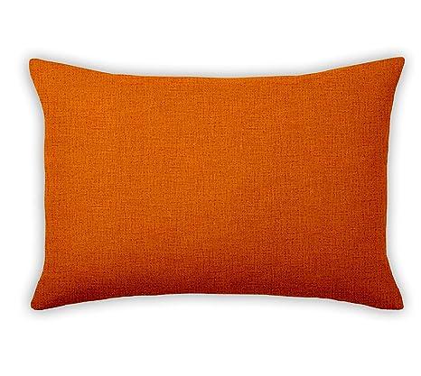 ADP Home - 2 Fundas de Cojín 30x50 CM con Cremallera (Tejido Loneta) Naranja