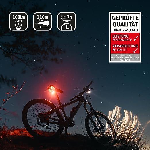 ANSMANN LiteRider StVZO Fahrradlicht Beleuchtungsset/Fahrradlampen ...