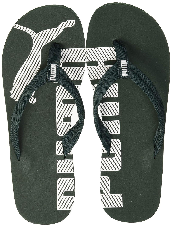 d3ec7b188b Puma Unisex Adults' Epic V2 Flip Flops, Green (Ponderosa Pine-Puma White  27), 8 UK