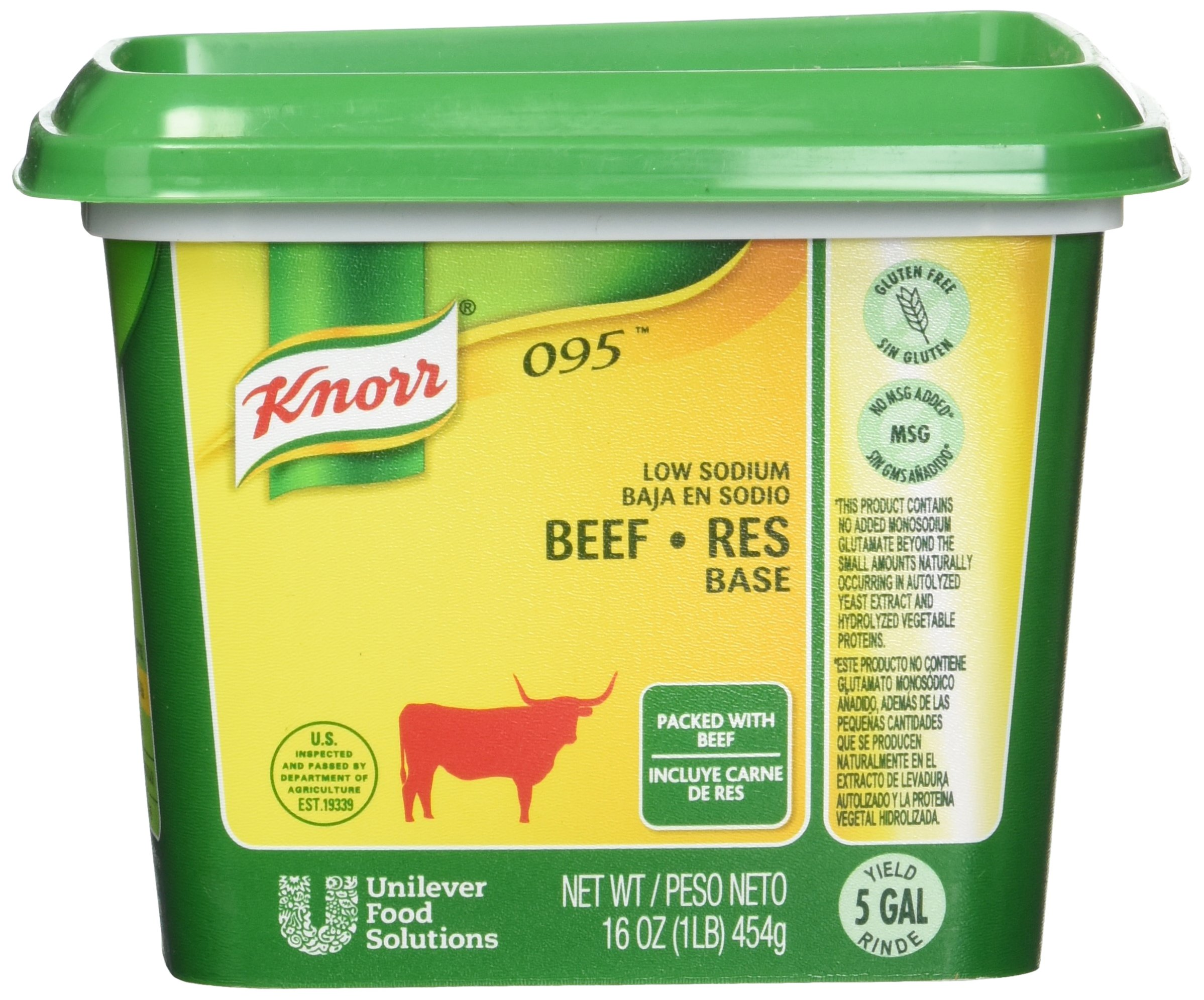 Knorr 095 Base Beef Low Sodium 1 pound 12 count