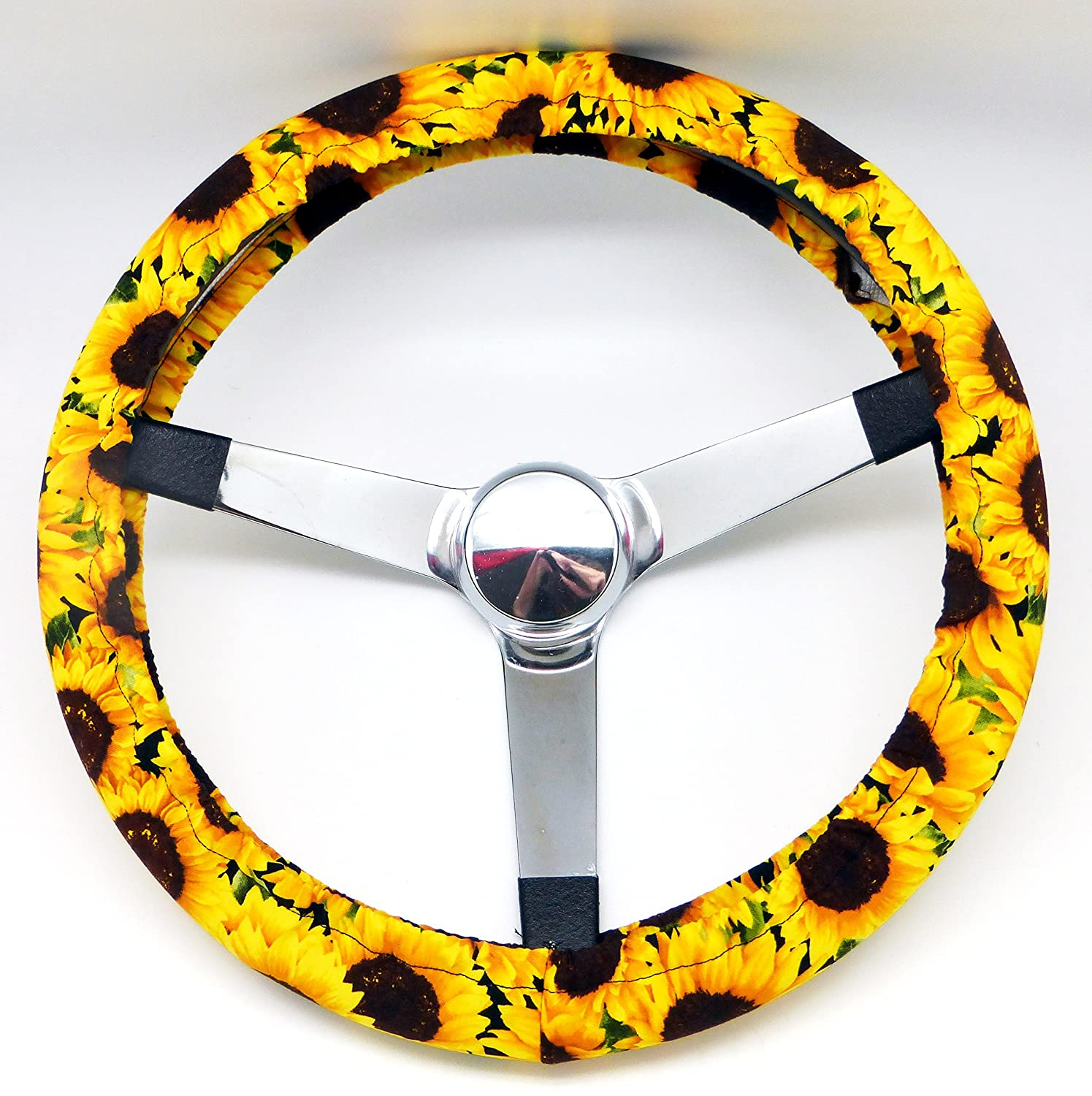 Superb Mana Trading Handmade Steering Wheel Cover Sunflowers Floral Andrewgaddart Wooden Chair Designs For Living Room Andrewgaddartcom