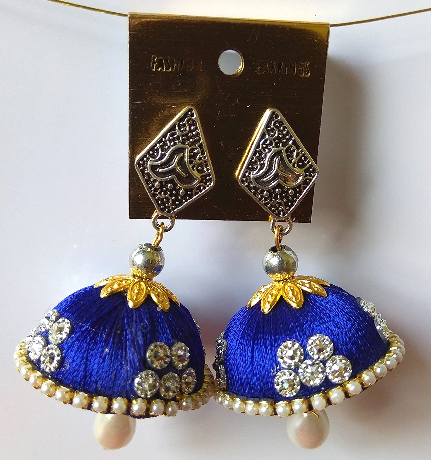 Blue Thread Jhumki Earring For Women