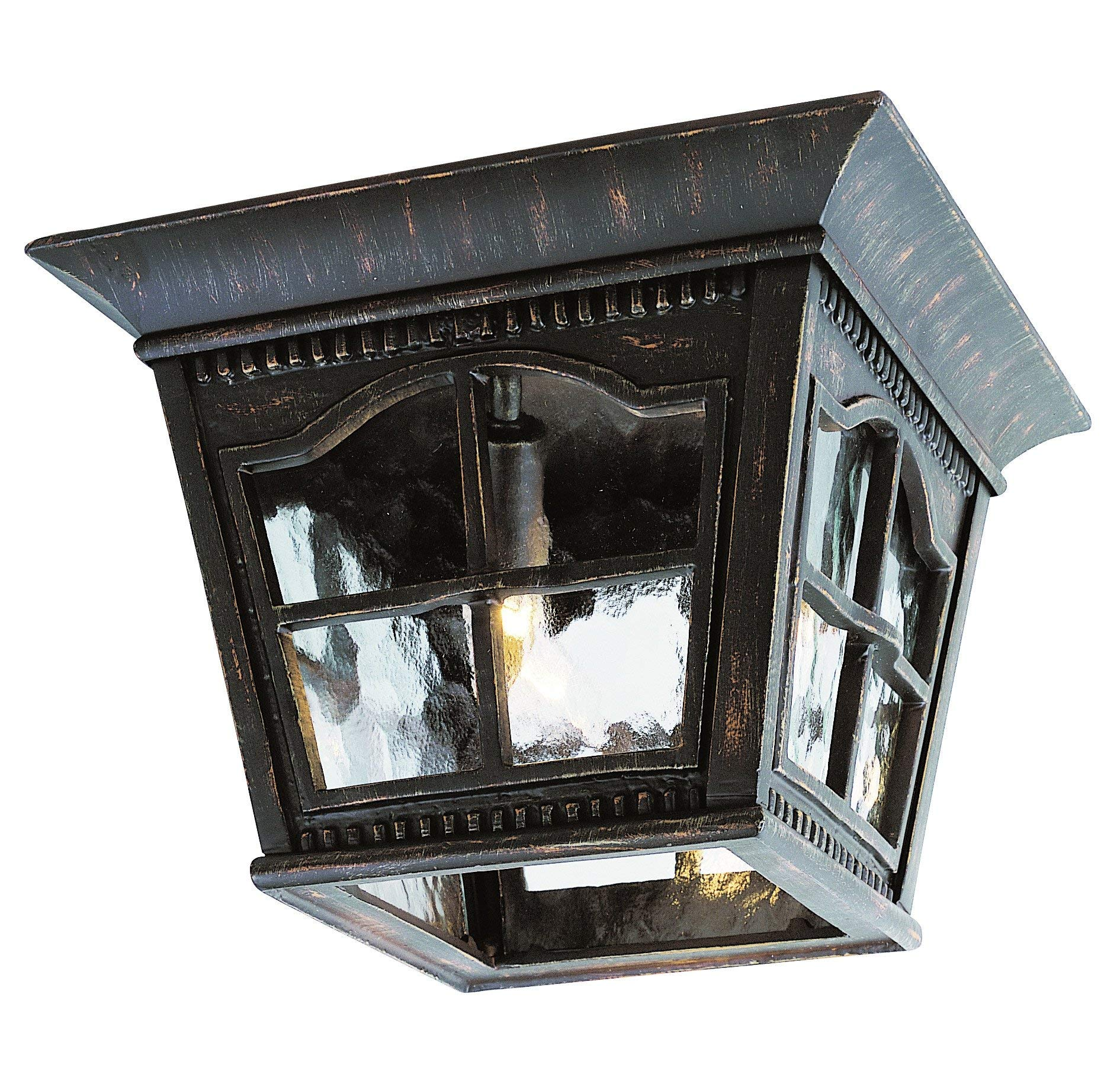 Trans Globe Lighting 5427 AR Outdoor Briarwood 8'' Flushmount Lantern, Antique Rust by Trans Globe Lighting