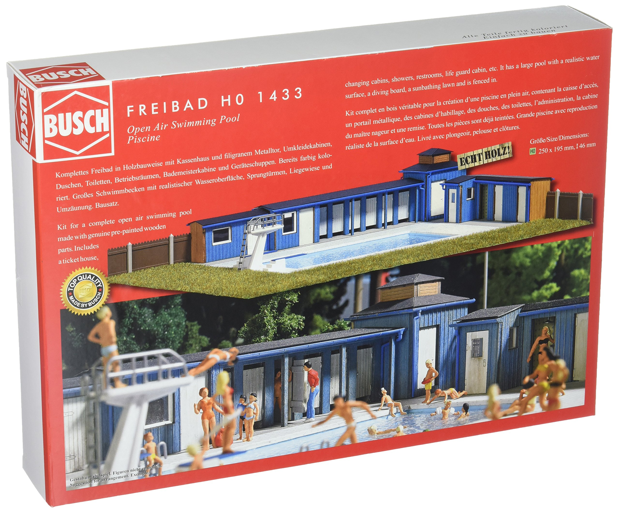 Busch 1433 OpenAir Swimming Pool HO Scale Scenery Kit