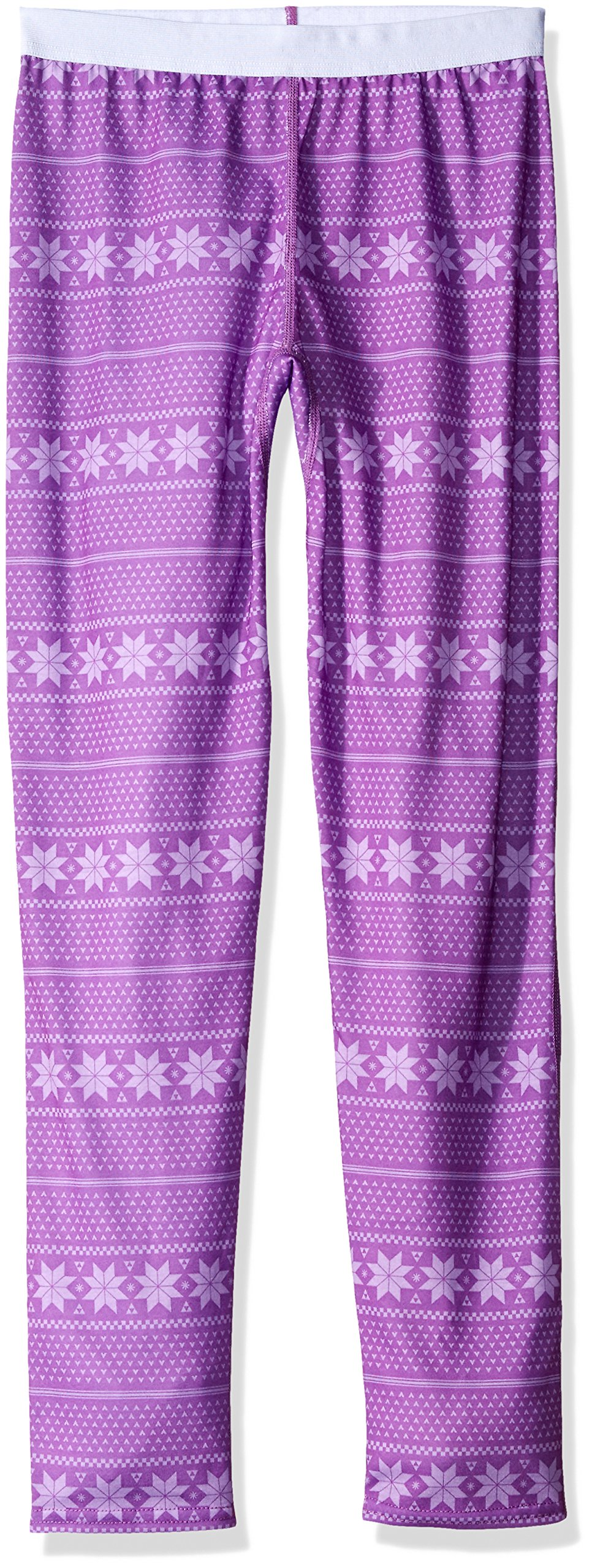 Hot Chillys Youth Pepper Skins Print Bottom, Alpine Stripe/April, Large by Hot Chillys