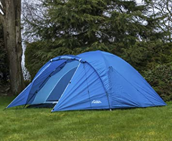 Andes Blue 4 Person Man Berth Double Skin C&ing/Festival Dome Tent & Andes Blue 4 Person Man Berth Double Skin Camping/Festival Dome Tent ...