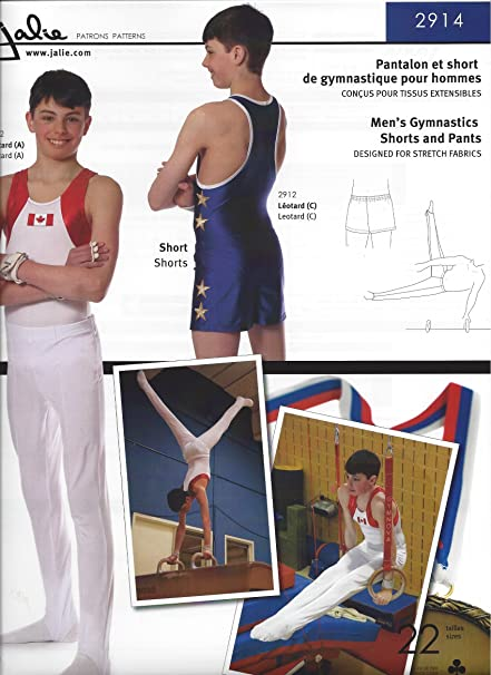 8e51186be562 Amazon.com: Jalie Men's Boy's Gymnastics Shorts and Pants Costume Sewing  Pattern 2914: Arts, Crafts & Sewing
