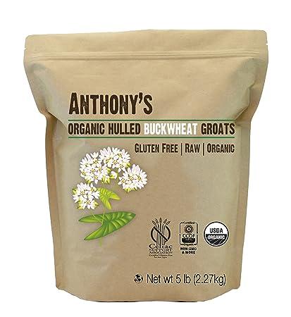 Amazoncom Organic Raw Hulled Buckwheat Groats 5lb By Anthonys