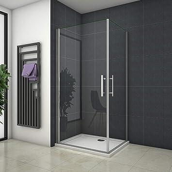 80 x 80 x 185 cm Mampara de ducha esquina. Ducha Colgante Puerta Puerta de ducha con Nano revestimiento A1 – 80E + A1 – 80E: Amazon.es: Bricolaje y herramientas