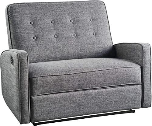 Christopher Knight Home Calliope Buttoned Fabric Reclining Loveseat