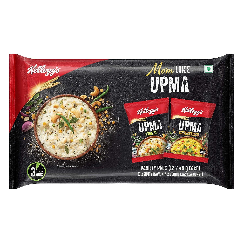 Kellogg's Upma Variety Pack, 576g (48g x 12)