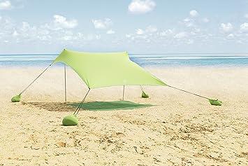 the latest 8662f 102b1 ALPHA CAMP Beach Shade Portable Canopy Sun Shelter with Sandbag Anchors -  7.6' x 7.2'