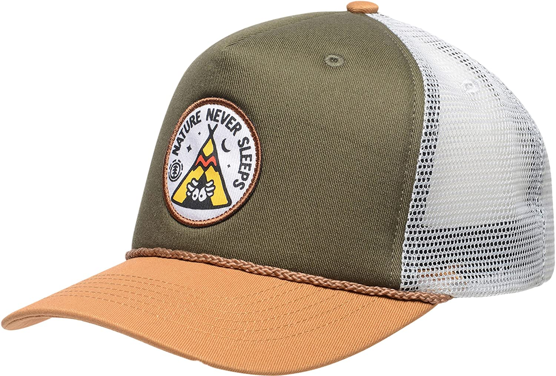 Oxblood Red. Element Emblem Trucker cap