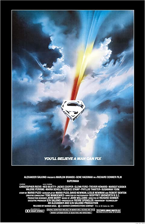 SUPERMAN MOVIE FILM A4 260GSM POSTER PICTURE PRINT