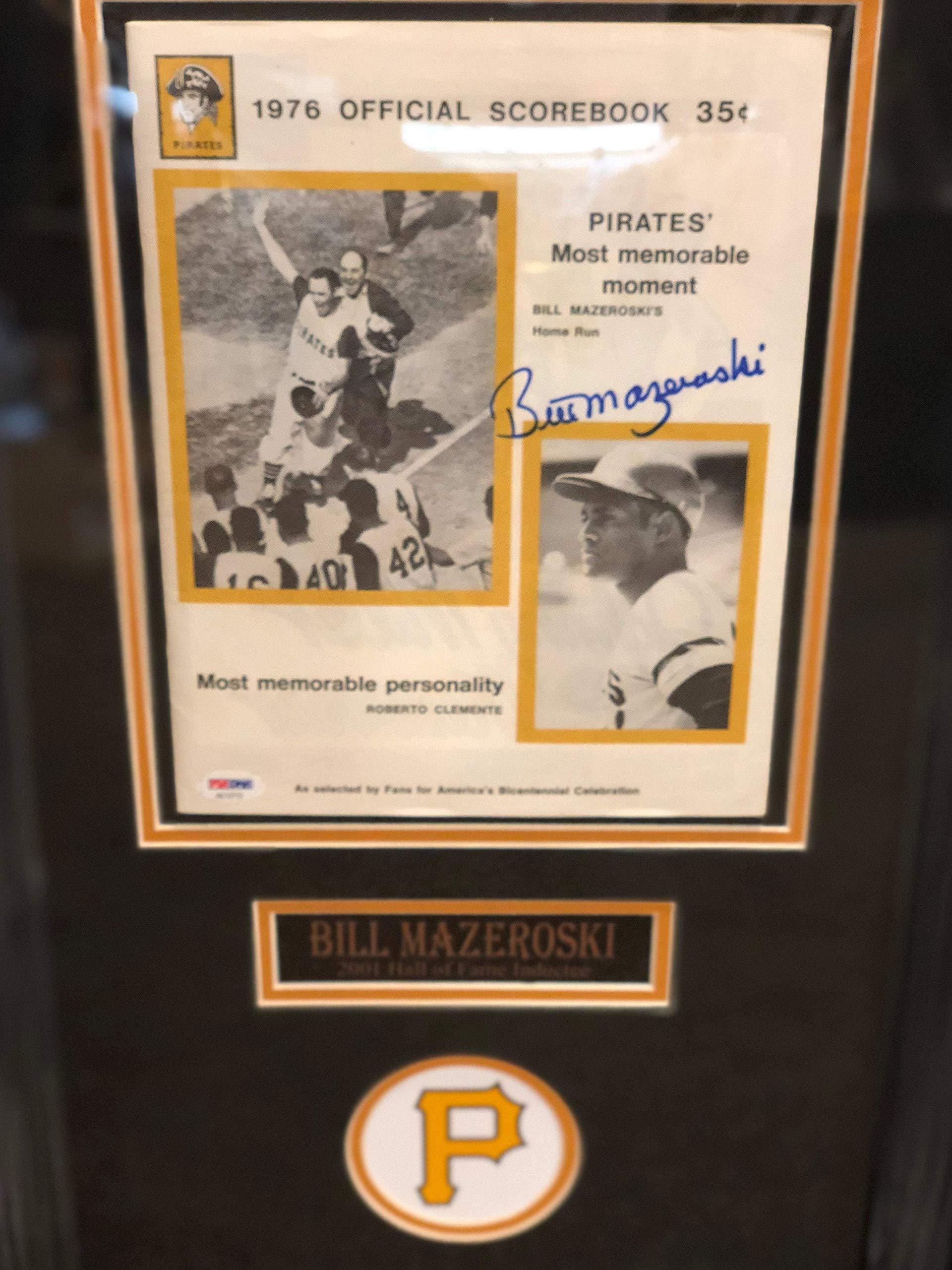Total Sports Enterprises Bill Mazeroski Signed 1976 WS Scorebook Professionally Framed