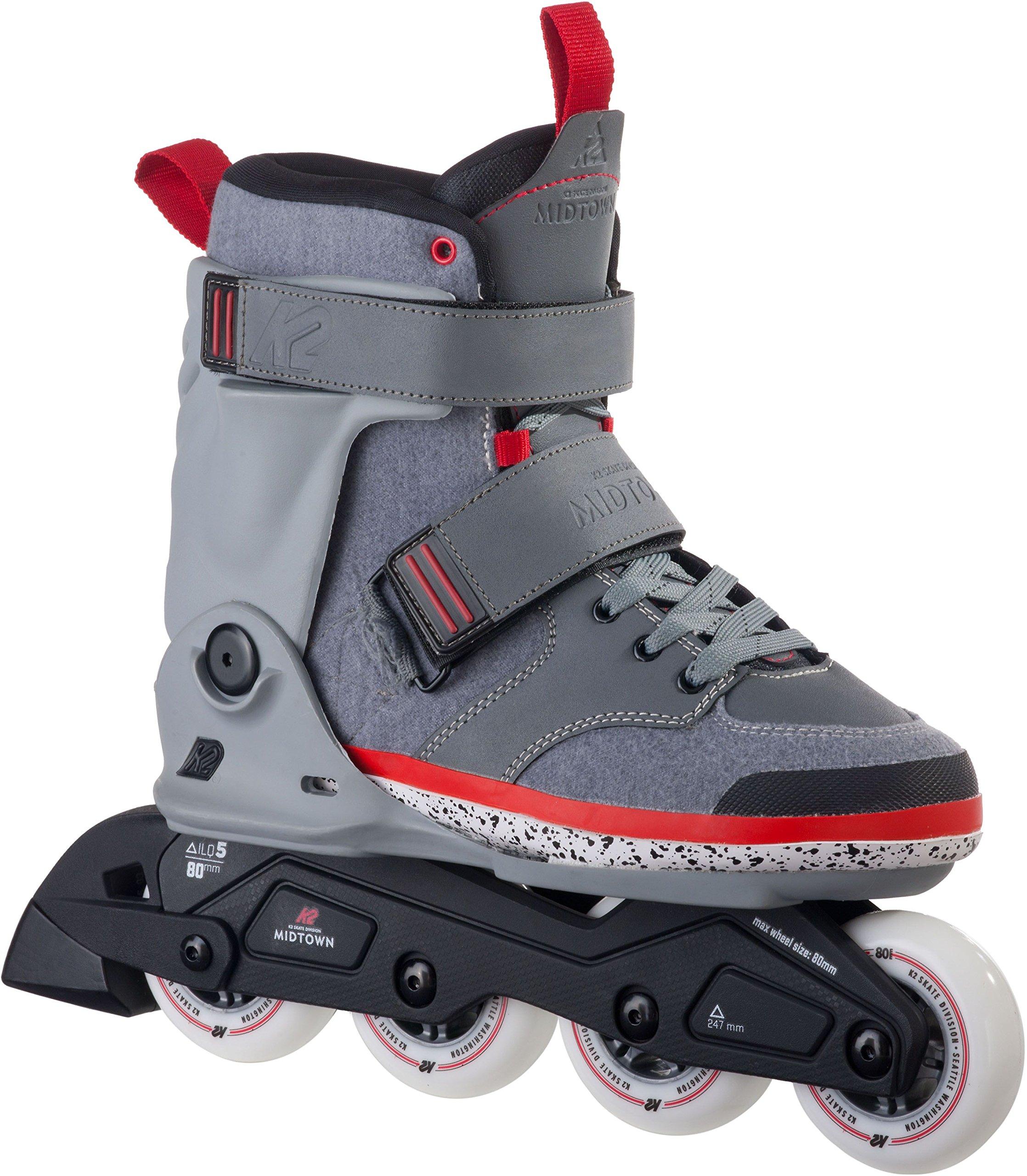 K2 Skate Midtown Inline Skates, Gray, 11