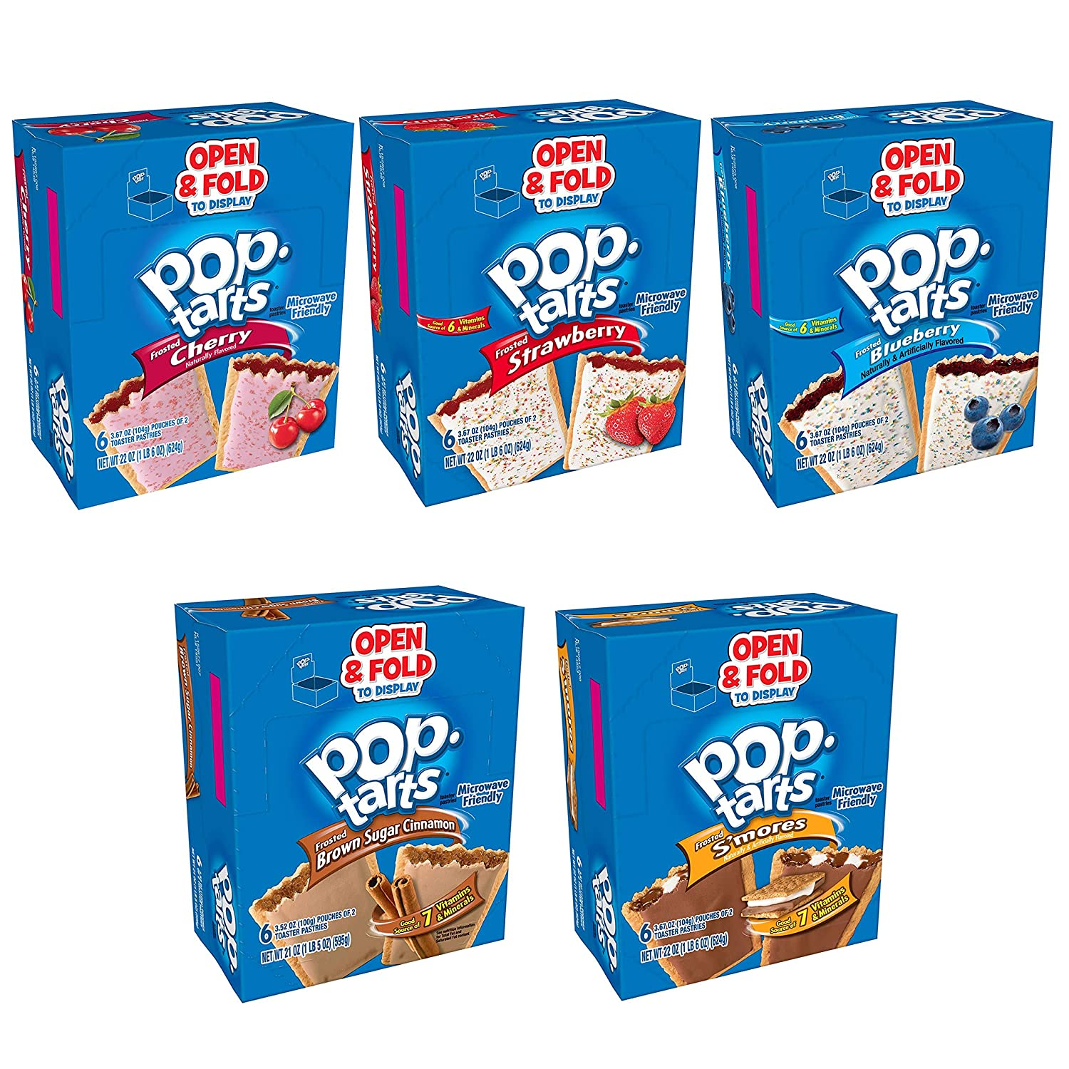 Pop-Tarts, Toaster Pastries, Mixed, (72 Count)
