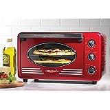 Nostalgia RTOV220RETRORED 12-Slice Double Rack Convection Toaster Oven