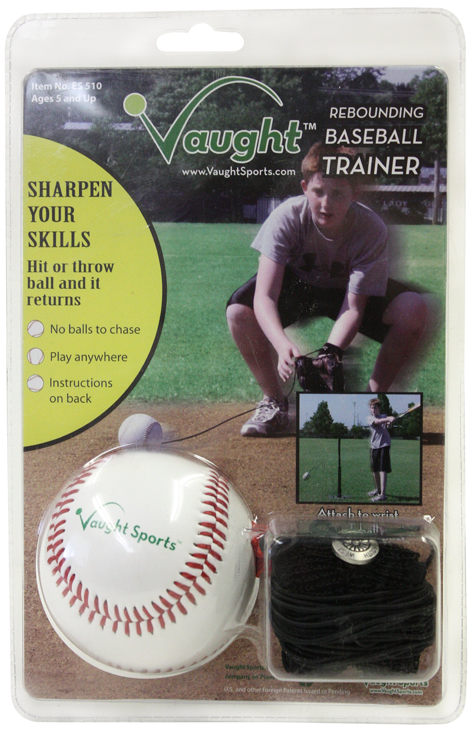 Vaught Sports ES510 Baseball Throw Hit Catch Rebounder by Vaught Sports