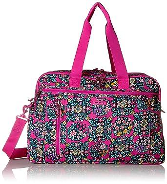 5f94a27c7 Amazon.com: Vera Bradley Lighten Up Weekender Travel Bag, Kaleidoscope  Rosettes: Clothing