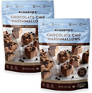 product image for Hammond's Candies - Gourmet Chocolate Chip Marshmallows - 2 Bags, Great for Snacking, Hot Chocolate, S'mores and Homemade Brownies, Small Batches, Handcrafted in the USA