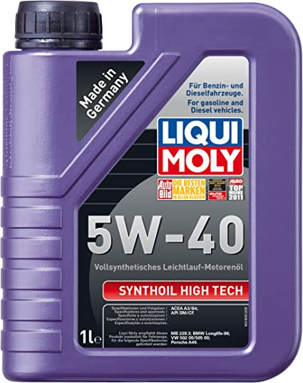 Liqui Moly 1306 Synthoil High Tech 5W-40 - Aceite antifricción ...