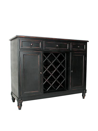 Charleston Sideboard with Wine Rack, Antique Black - Amazon.com: Charleston Sideboard With Wine Rack, Antique Black: Home
