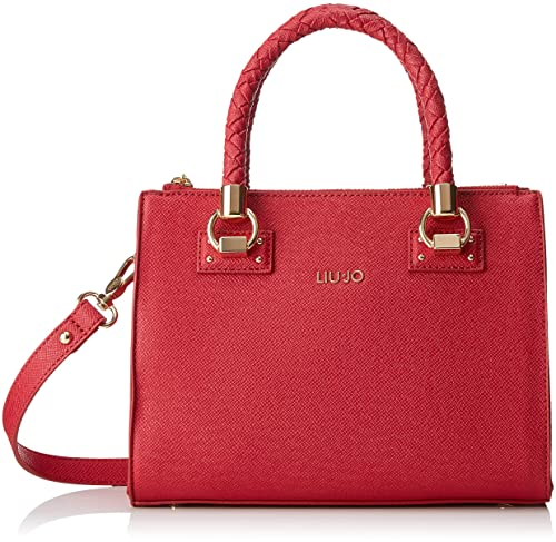 LIU JO Manhattan Satchel Zip S Red  Amazon.it  Scarpe e borse f06da9b8b72