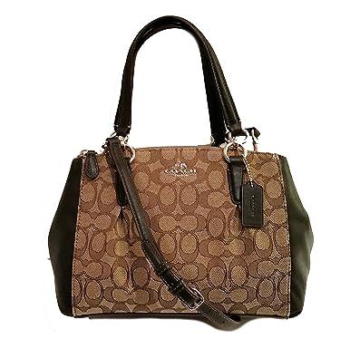 730b3630880f Mini Christie Carryall with Pleats in Signature (Coach F36719)  Gold khaki brown  Handbags  Amazon.com