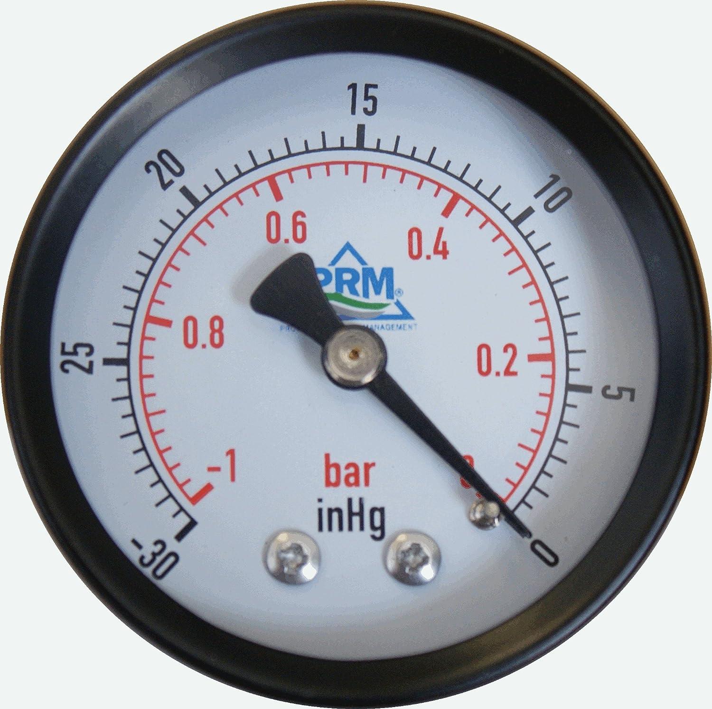 """2-1//2/"""" 0 to 30/"""" Vacuum Gauge Vacum Reading Vaccuum Pressure"""