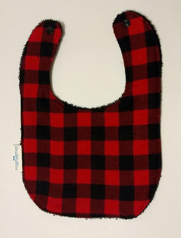 Buffalo Plaid Lumberjack Bib Terry Cloth Drool Bib