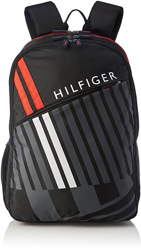 efbe2c23c70 Tommy Hilfiger Black Casual Backpack (TH/BTSR01/CARI): Amazon.in: Bags,  Wallets & Luggage