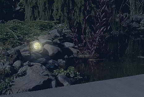 Smartwares 10.009.37 Luz para exterior, LED, forma de piedra, alimentada por energía solar, IP44, Marrón