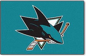 FANMATS NHL San Jose Sharks Nylon Face Starter Rug