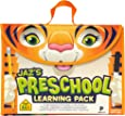 School Zone - Jaz's Preschool Learning Pack - Ages 3-5, Workbook, Flash Cards, Early Reading Books, Math, Write & Reuse, Educational Games, Press-Out Pieces, Carrying Case, Pencil & Wipe-Clean Marker