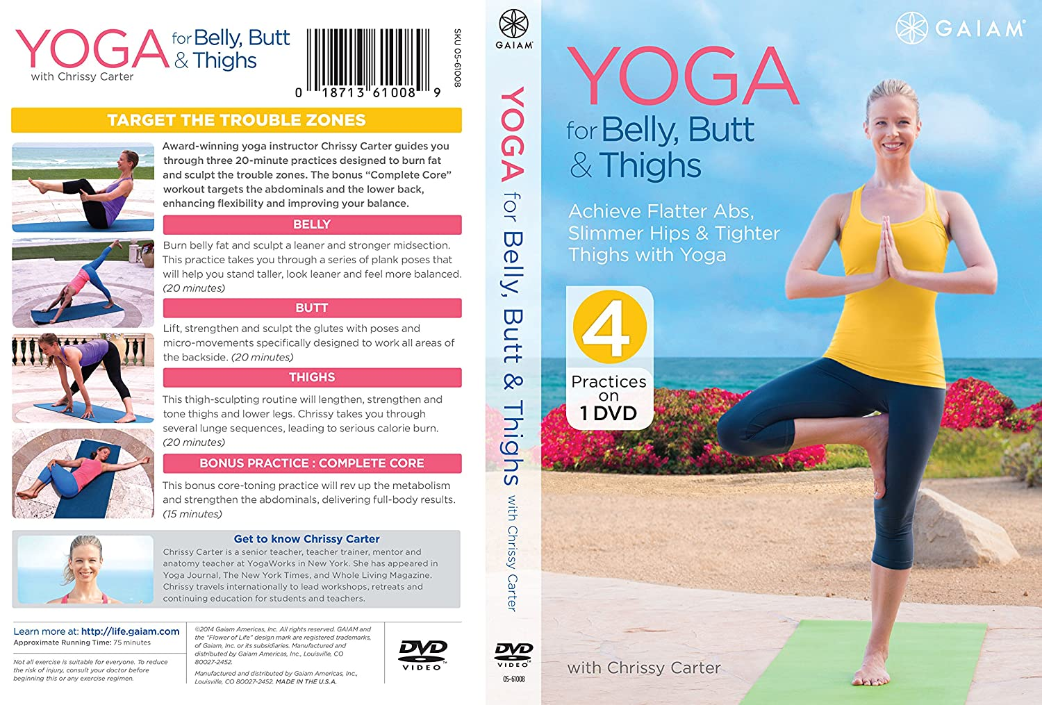 Amazon.com: Yoga For Belly, Butt & Thighs: Chrissy Carter, Gaiam ...
