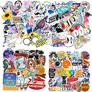 160 PCS Stickers for Water Bottles, Big Cute Funny Waterproof Vinyl Stickers Decals for Teens,Girls and Adults, Unique Durable Aesthetic Trendy Stickers Perfect for Hydro Flask, Laptop, Computer,Phone