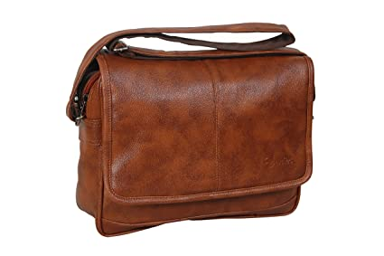 8bd2ddccfb04 Image Unavailable. Image not available for. Colour  Easies Tan Color  Synthetic Leather Trendy Large Sling Bag For Men For Daily Use
