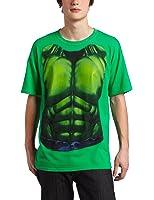 Incredible Hulk Smash Chest Mens Green T-shirt