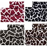 Weavely Animal Print Best Quality Bedding Sheet Set, Extra Deep Pockets Fitted Sheets, 100% Luxury Super Soft Microfiber Sheet Set, 4-Piece Set - Maroon Red - Queen