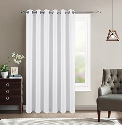 BETTER HOME USA 80u0026quot; Wide Patio Door Curtain   Energy Smart U0026 Noise  Reducing Grommet