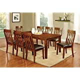 Furniture of America Harcourt 9-Piece Transitional Dining Set