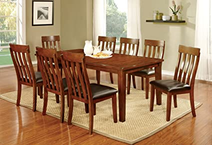 Lovely Furniture Of America Harcourt 9 Piece Transitional Dining Set