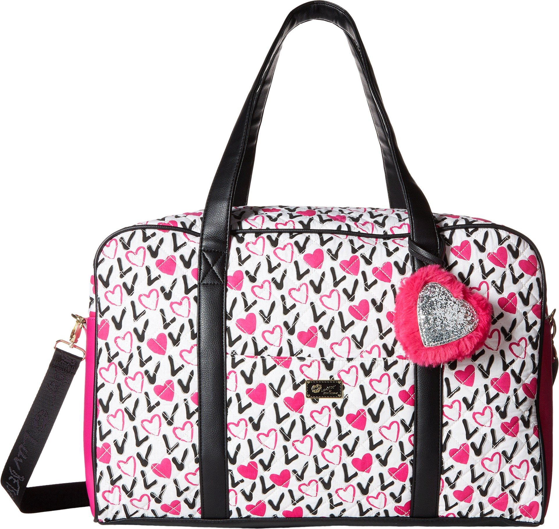 Luv Betsey Women's Cruzin Cotton Weekender w/A Luggage Pass Through On The Back Love Pink-Az One Size