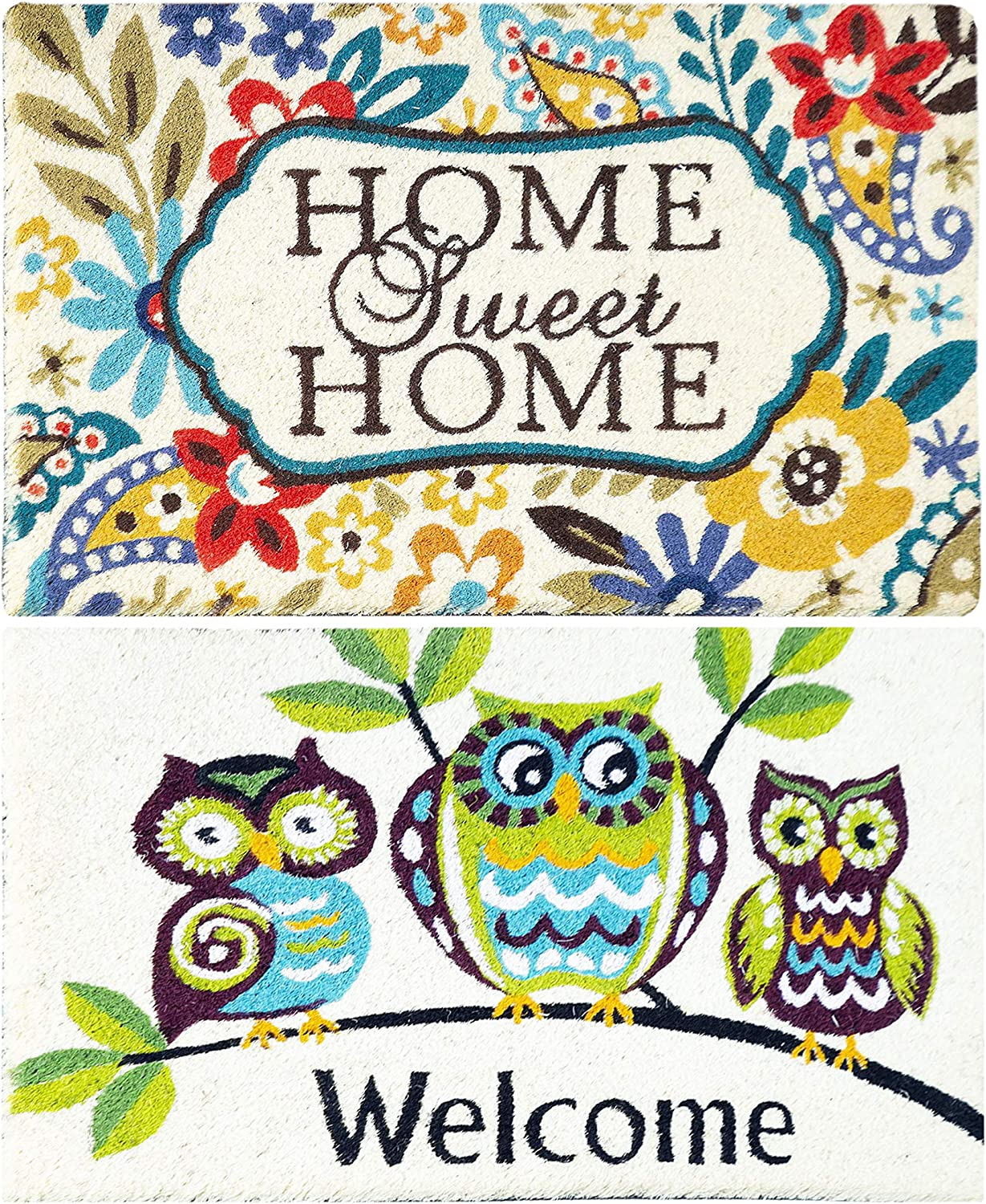 Iron Gate - 2 Pack Welcome Printed Mat - Outdoor Mat Size 18x30 Multi Colour