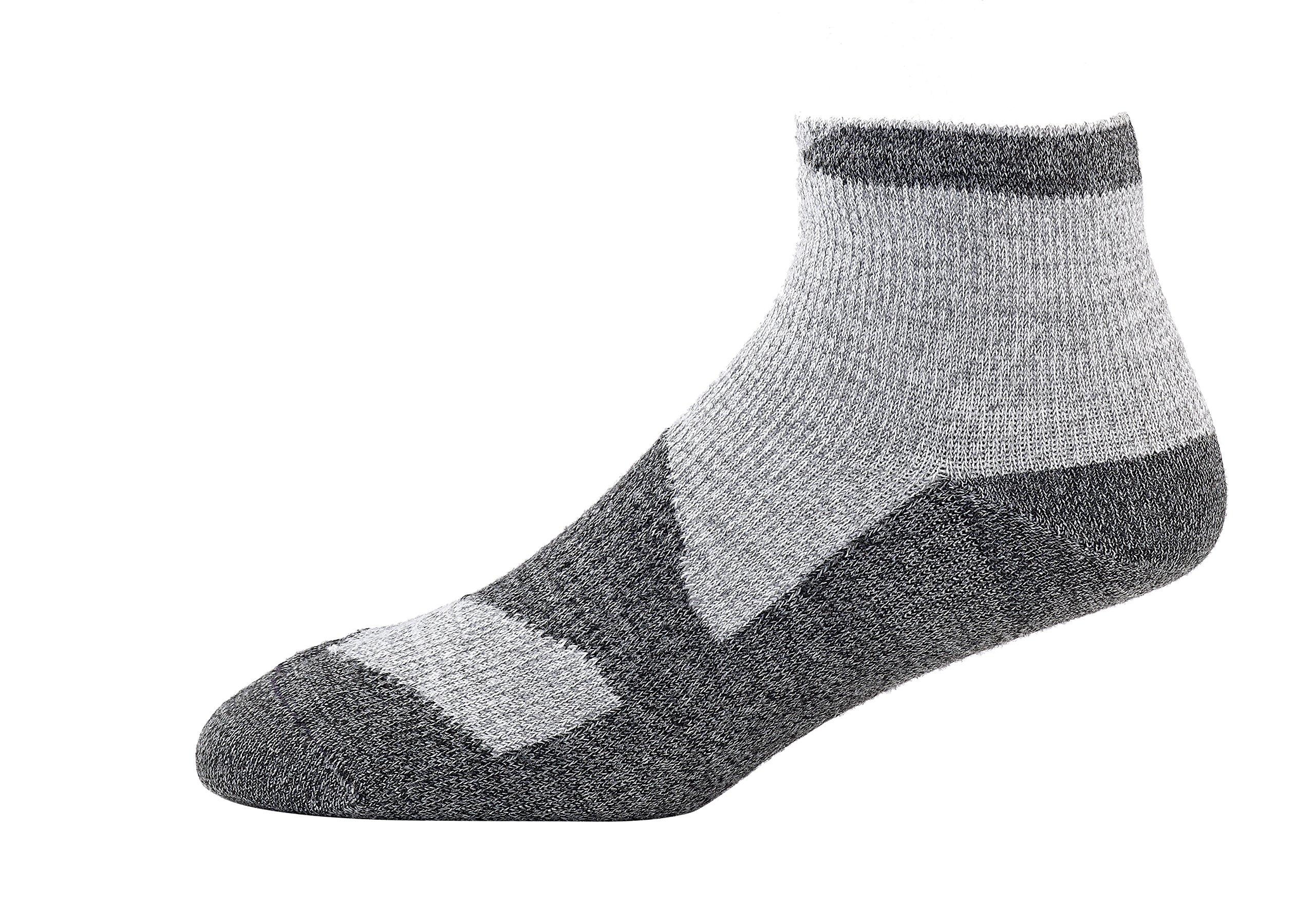 SealSkinz Walking Thin Socklet, Medium - Grey Marl/Dark Grey. With a Helicase brand sock ring