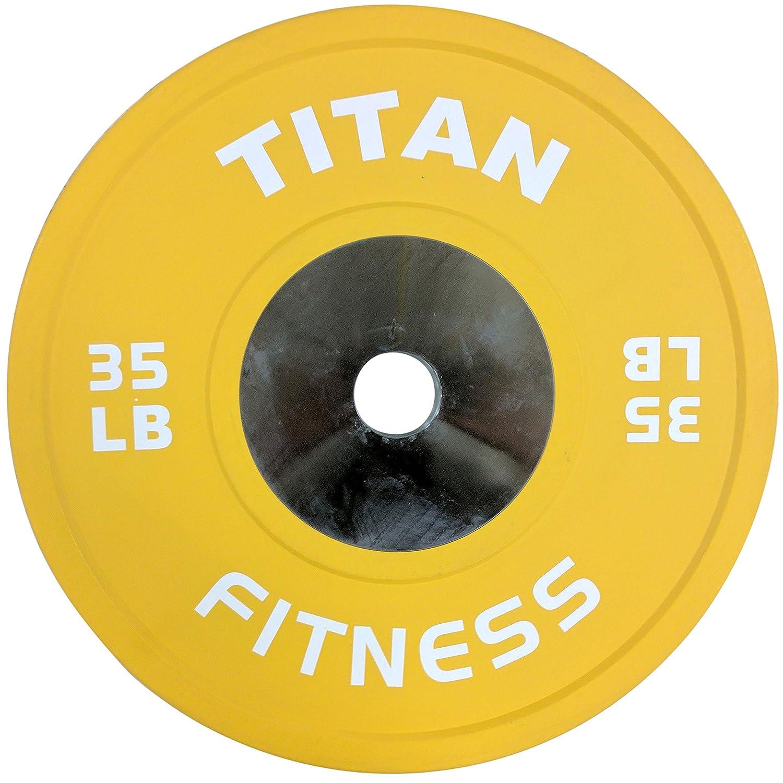 タイタンElite Olympicバンパープレート10 25 35 45 55 lbスチールDisc   B074ZQ2X46